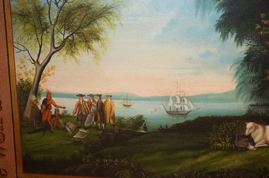 DAVID GUILMET Peaceable Kingdom Oil on Canvas Pai - 4