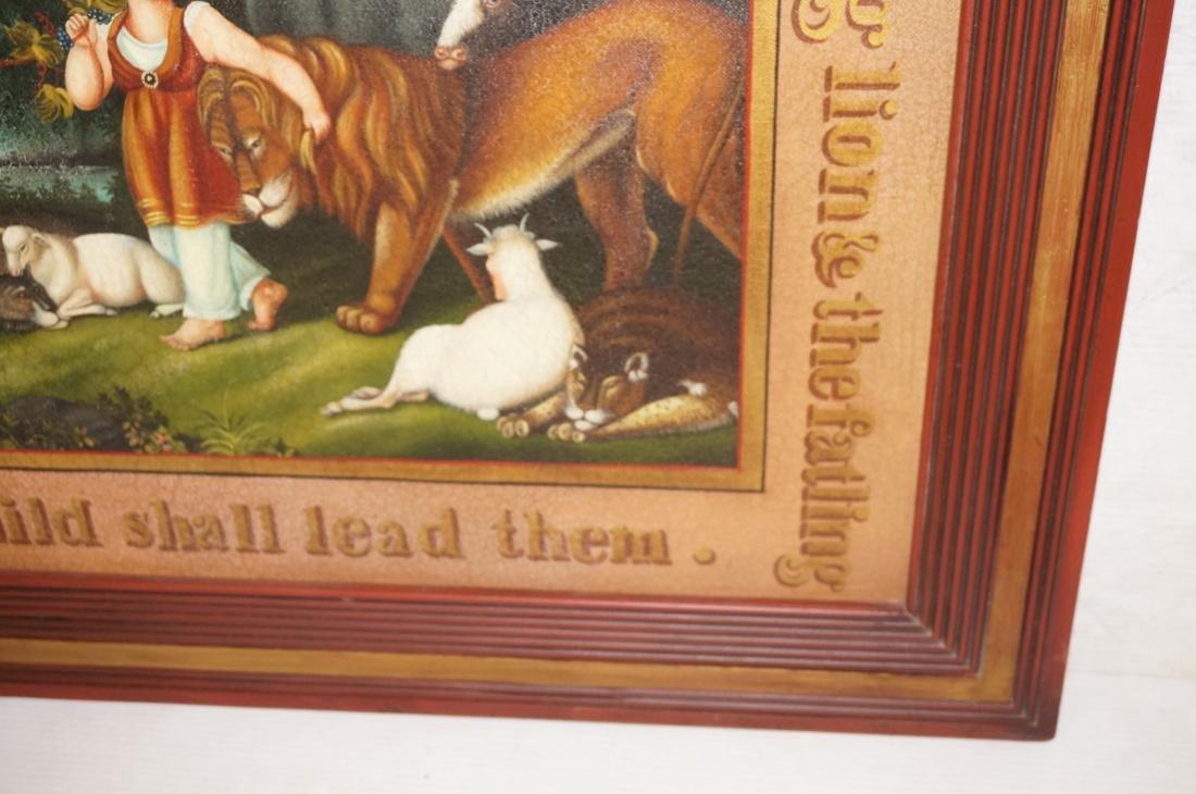 DAVID GUILMET Peaceable Kingdom Oil on Canvas Pai - 7