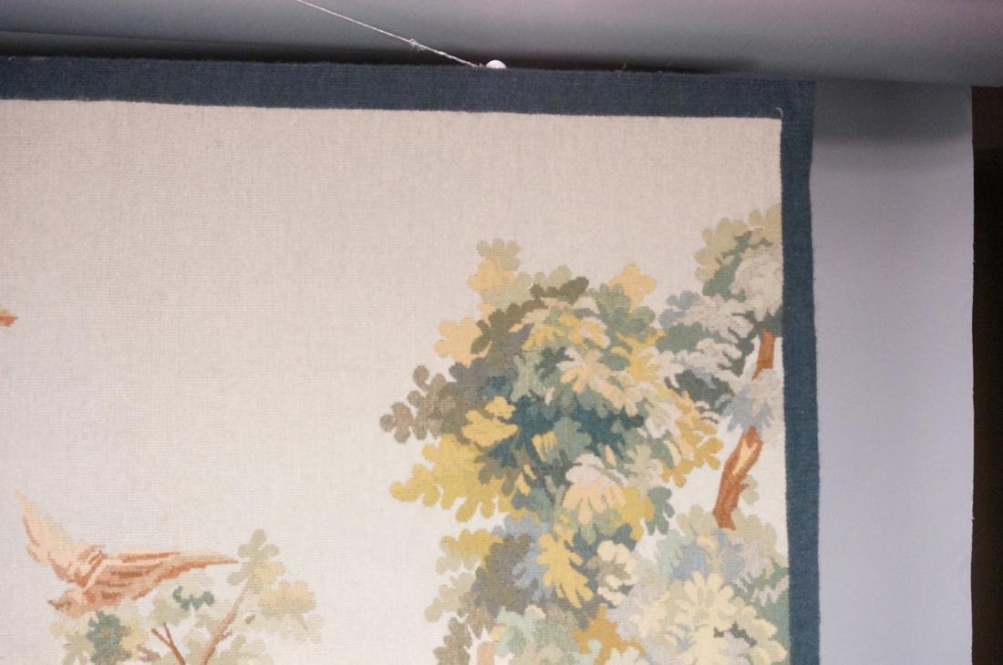 Hand Woven Aubusson Tapestry. Lush colorful lands - 3