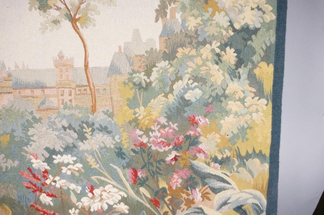 Hand Woven Aubusson Tapestry. Lush colorful lands - 4