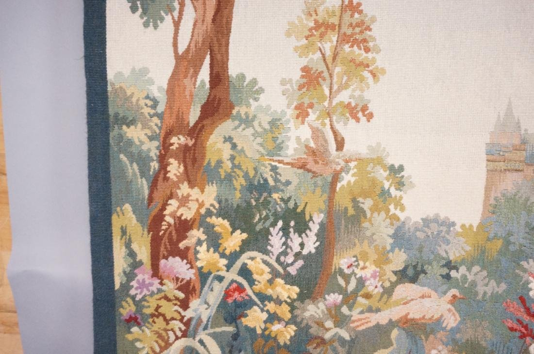 Hand Woven Aubusson Tapestry. Lush colorful lands - 5
