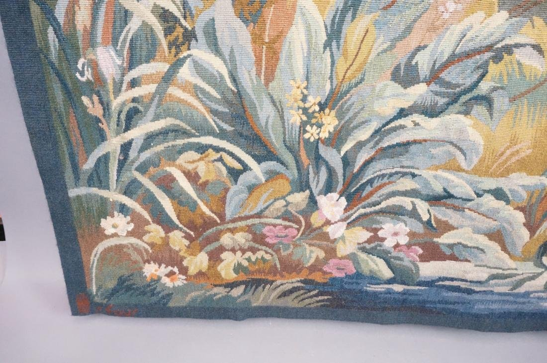 Hand Woven Aubusson Tapestry. Lush colorful lands - 6