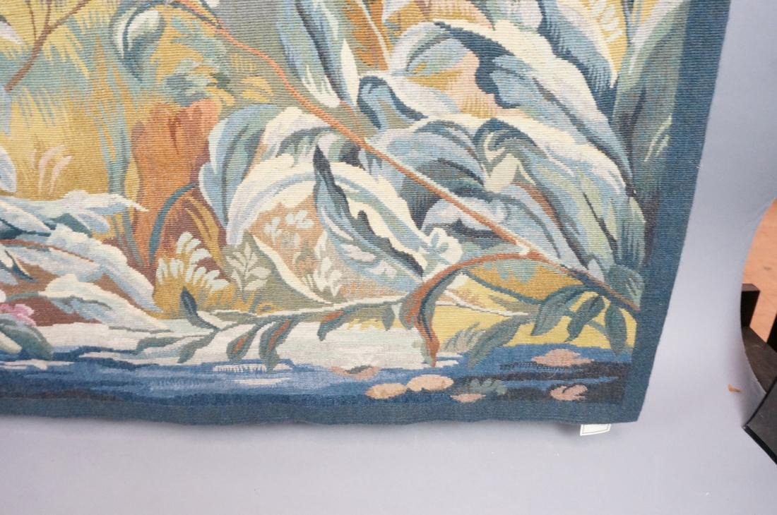 Hand Woven Aubusson Tapestry. Lush colorful lands - 7