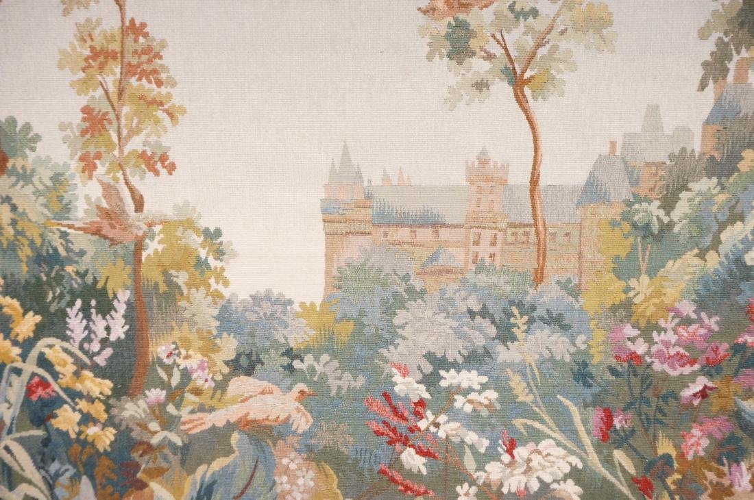 Hand Woven Aubusson Tapestry. Lush colorful lands - 8