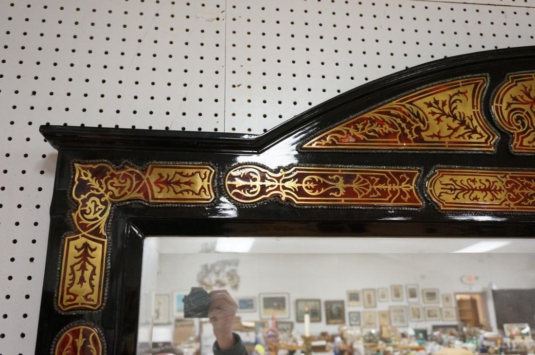Large Boulle Style Credenza With Mirror.  Late 20 - 6