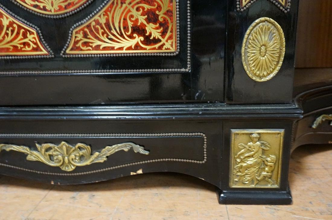Large Boulle Style Credenza With Mirror.  Late 20 - 8