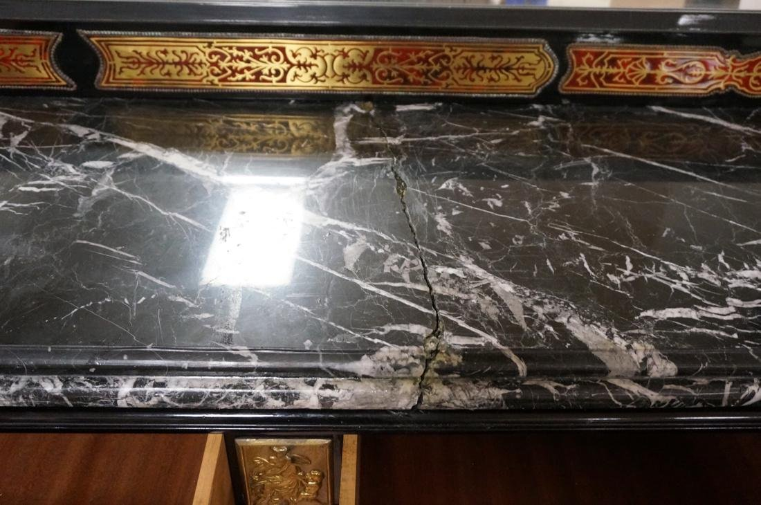 Large Boulle Style Credenza With Mirror.  Late 20 - 9