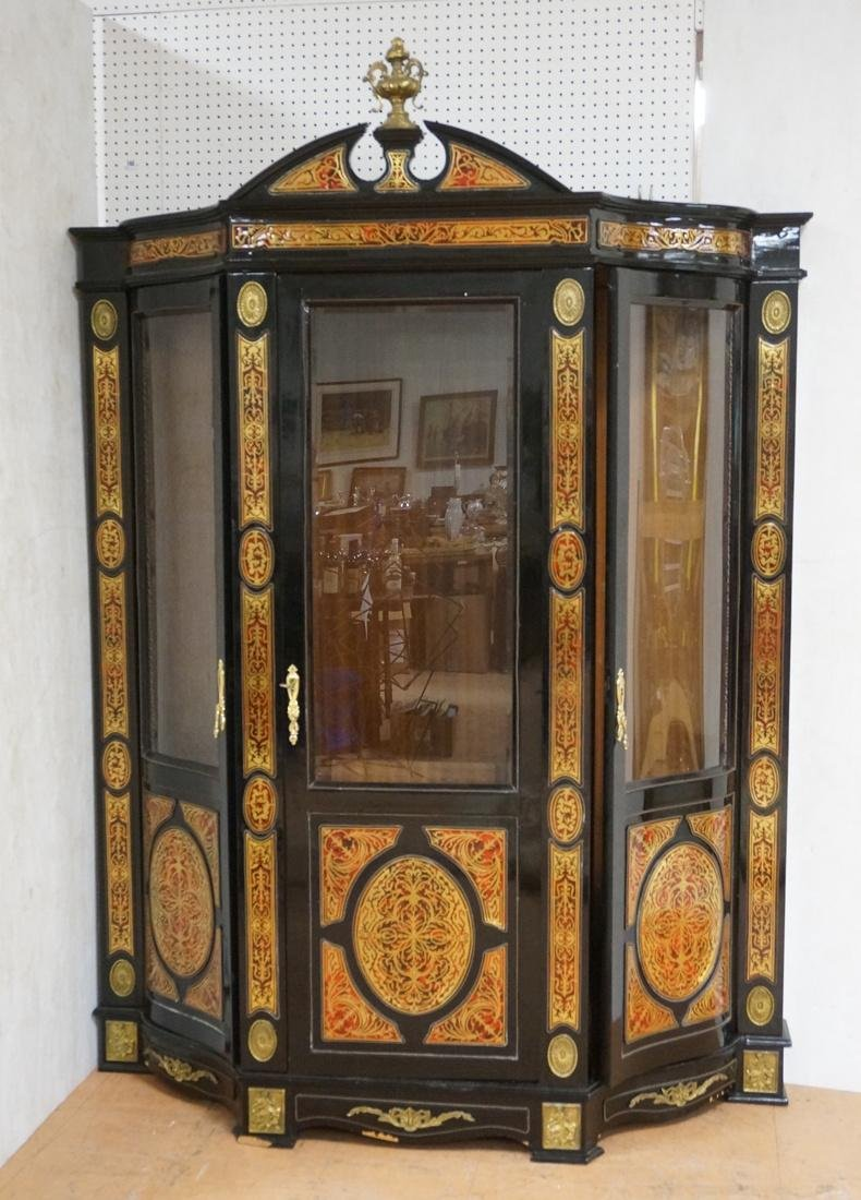 Decorative Boulle Style Display Cabinet. Serpenti