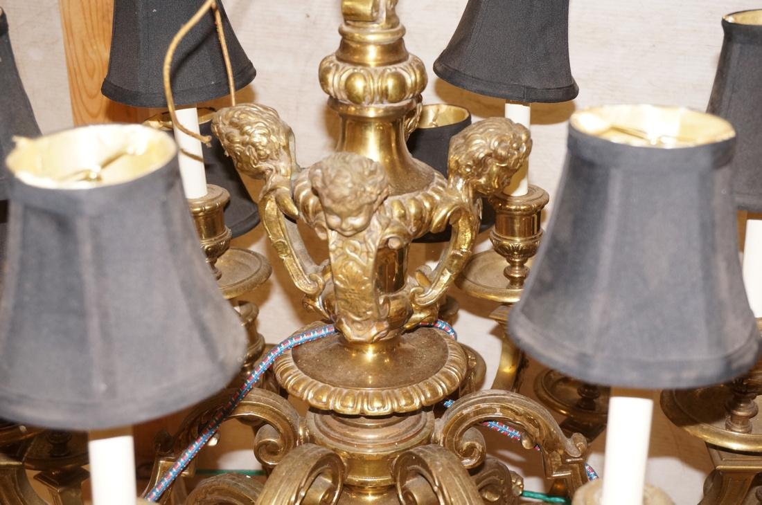 Very Large Brass Chandelier with Cherubs. 18 arms - 2