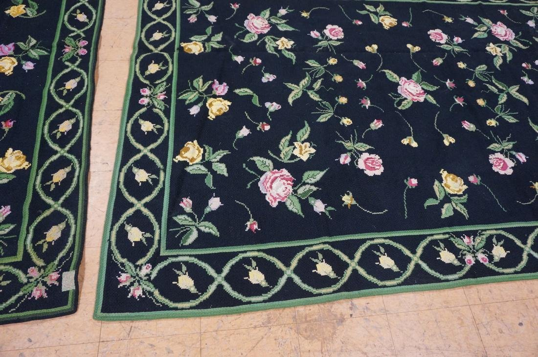 9'3 x 8'2 pc CASA CAIDA knitted floral carpets on - 10