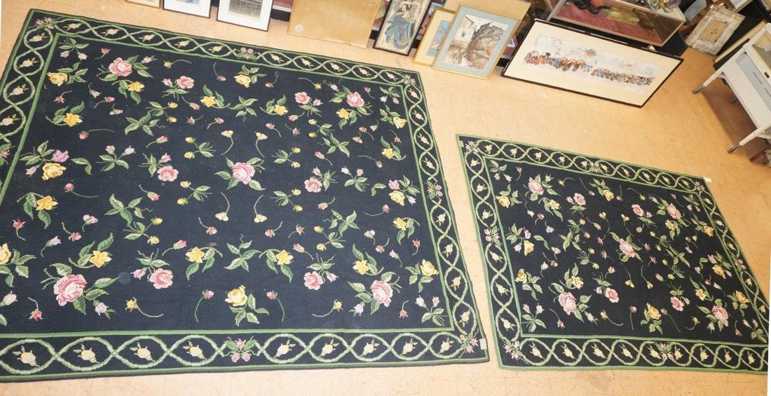 9'3 x 8'2 pc CASA CAIDA knitted floral carpets on