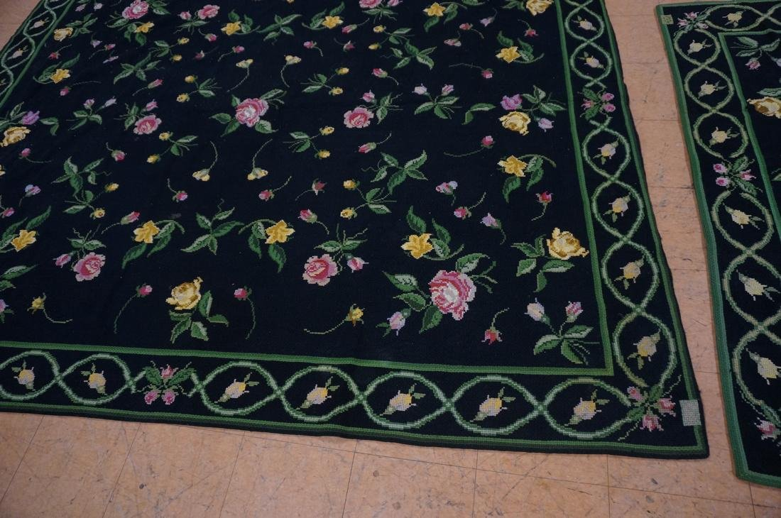 9'3 x 8'2 pc CASA CAIDA knitted floral carpets on - 2