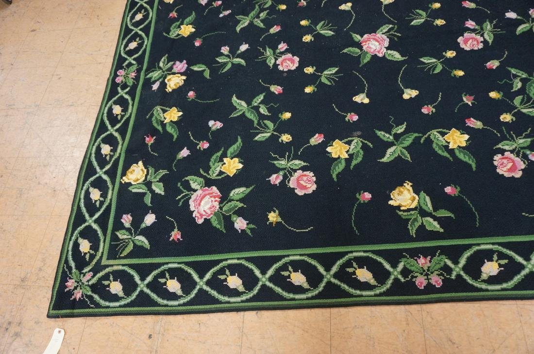 9'3 x 8'2 pc CASA CAIDA knitted floral carpets on - 3