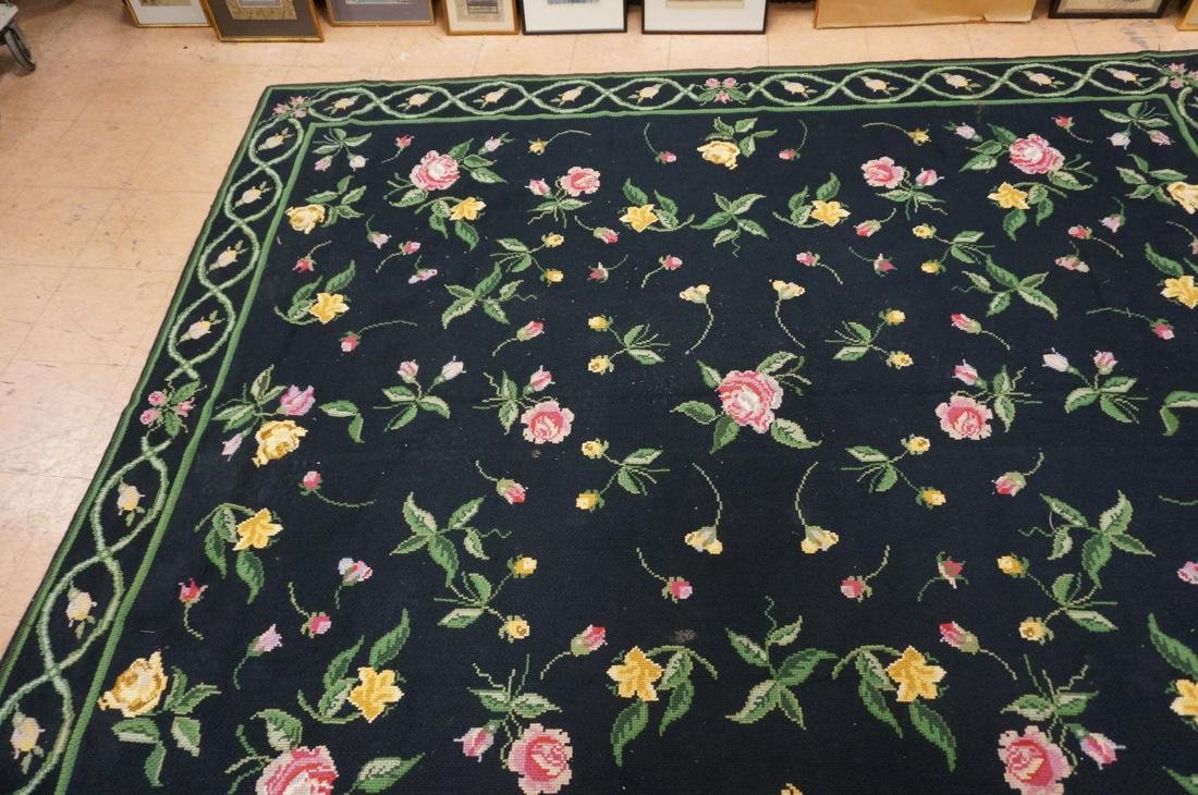 9'3 x 8'2 pc CASA CAIDA knitted floral carpets on - 4