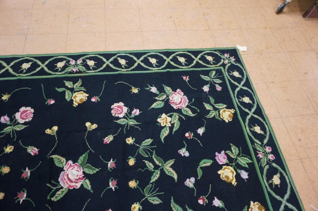9'3 x 8'2 pc CASA CAIDA knitted floral carpets on - 8