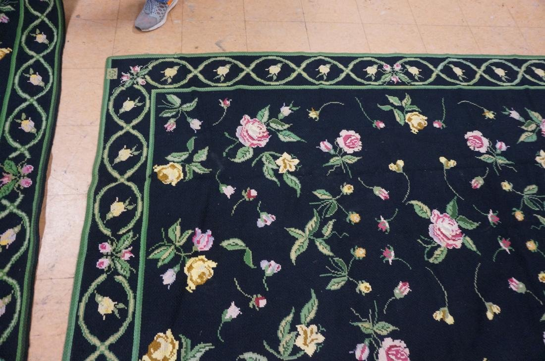 9'3 x 8'2 pc CASA CAIDA knitted floral carpets on - 9