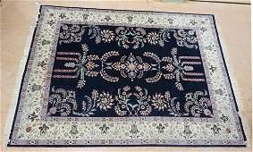 124 x 92 Handmade Oriental Carpet Rug Ivory b