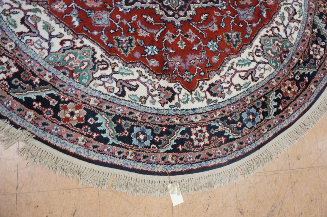 7'6 x 7 Oval Handmade Carpet rug with center meda - 5