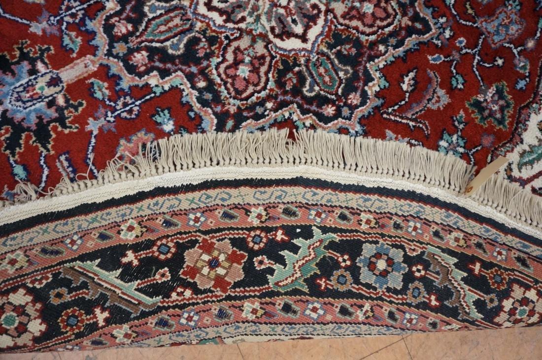 7'6 x 7 Oval Handmade Carpet rug with center meda - 6