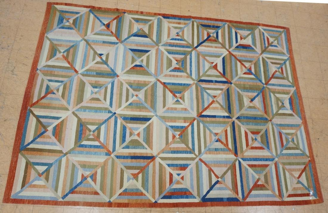 11'8 x 8'7  Contemporary Woven Carpet Rug.  Squar
