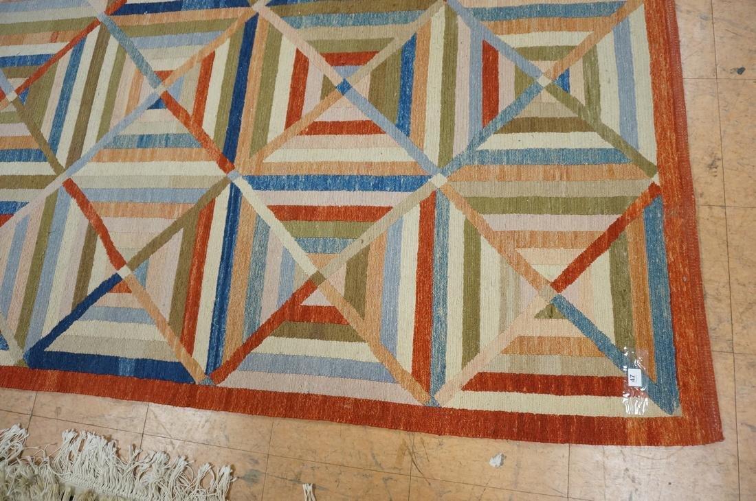 11'8 x 8'7  Contemporary Woven Carpet Rug.  Squar - 2