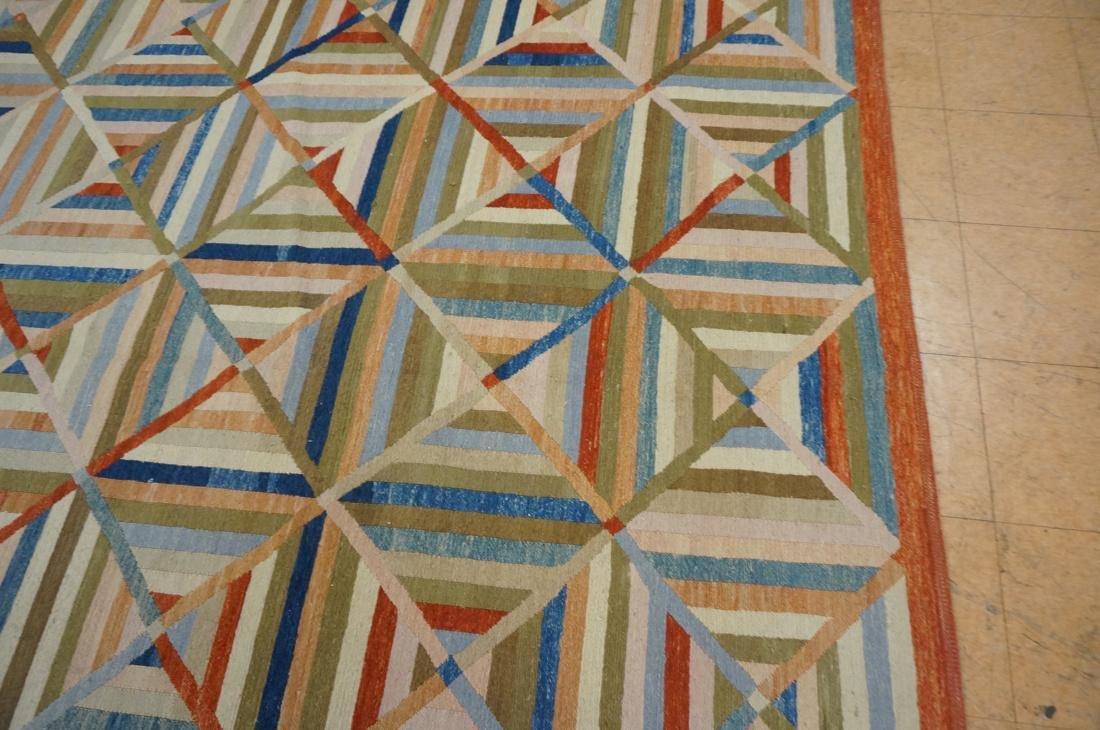 11'8 x 8'7  Contemporary Woven Carpet Rug.  Squar - 3
