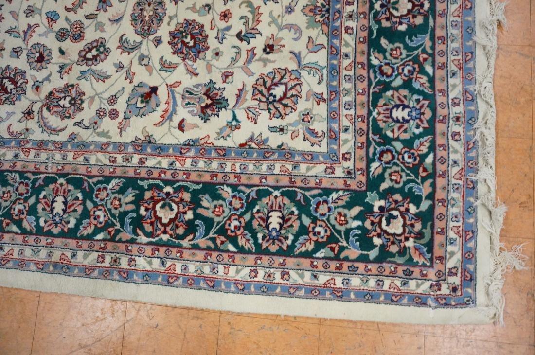 12 x 8'11 Handmade Oriental Carpet. Floral Ivory - 2