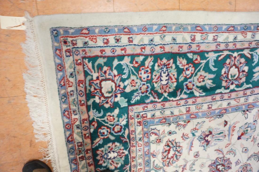 12 x 8'11 Handmade Oriental Carpet. Floral Ivory - 5