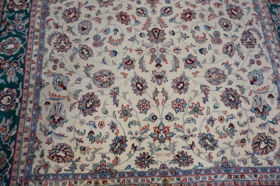 12 x 8'11 Handmade Oriental Carpet. Floral Ivory - 6