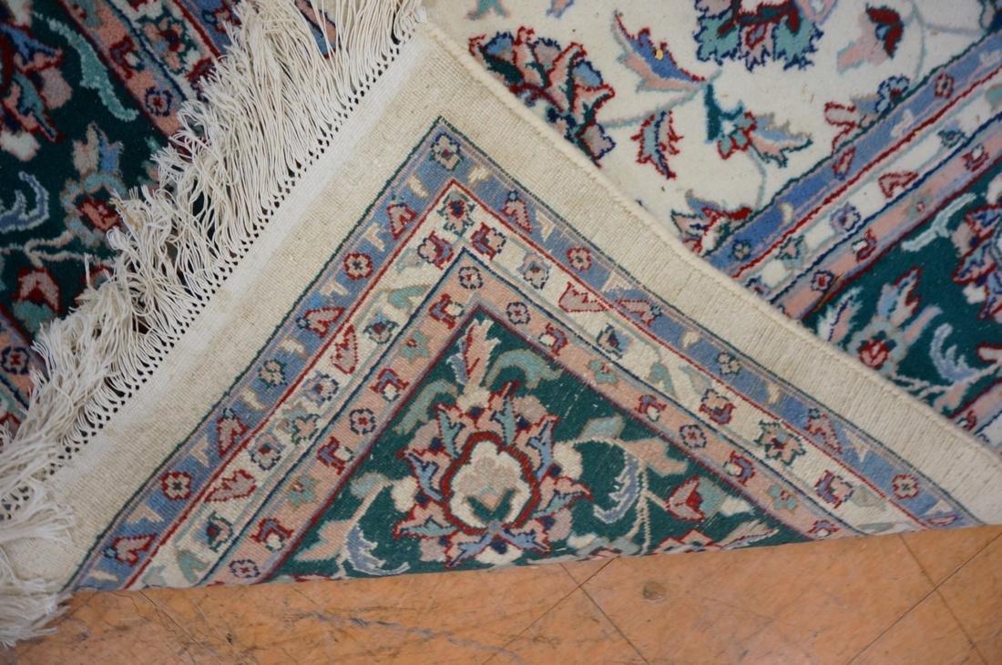 12 x 8'11 Handmade Oriental Carpet. Floral Ivory - 7