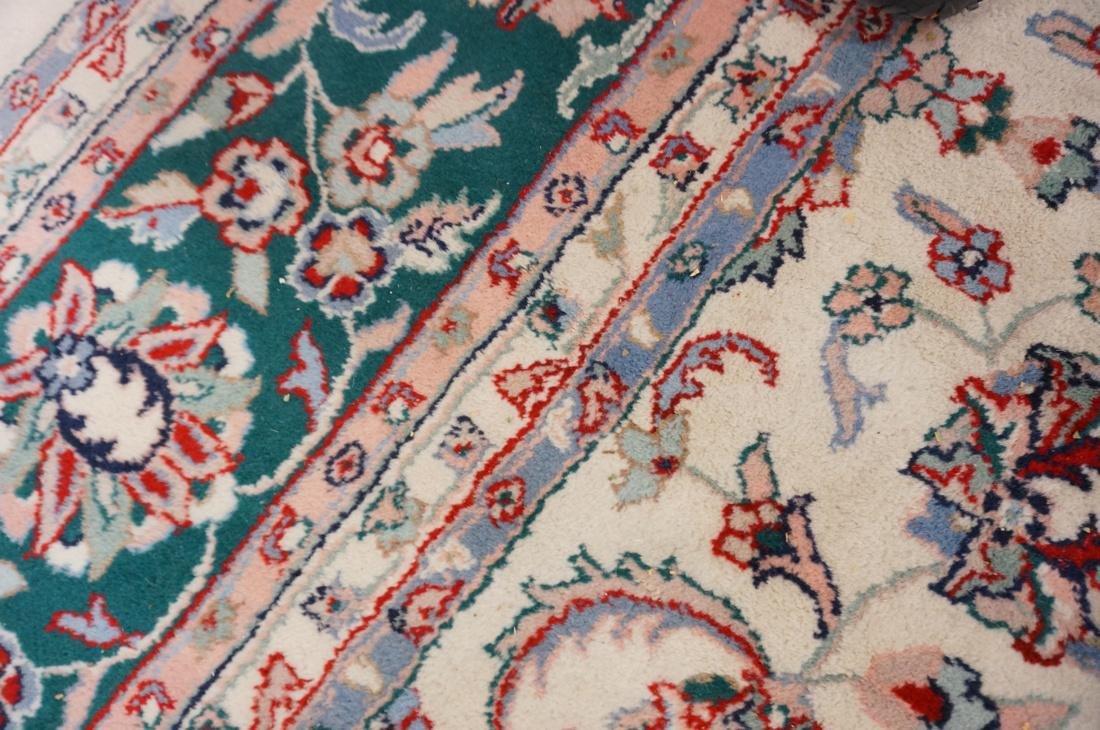 12 x 8'11 Handmade Oriental Carpet. Floral Ivory - 8