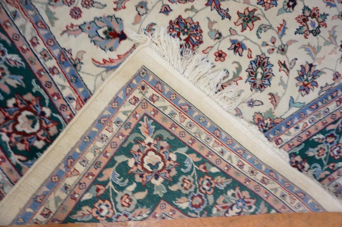 12 x 8'11 Handmade Oriental Carpet. Floral Ivory - 9