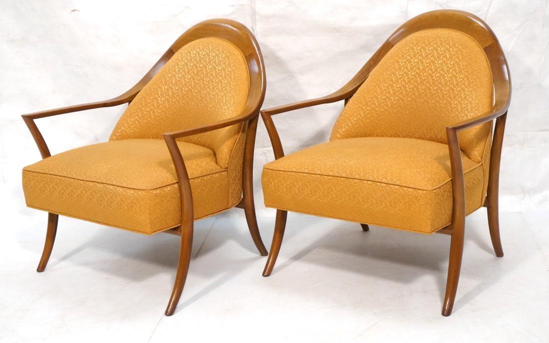 Pr ROBSJOHN GIBBINGS Walnut Arm Lounge Chair. Sab