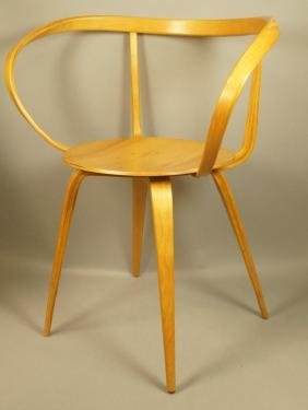 GEORGE NELSON Laminated Birch Pretzel Chair. Tape