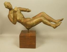 Modernist Pottery Figural Sculpture. Female Nude