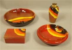 4pc RAYMOR Italian Pottery Tableware Smoking Set.