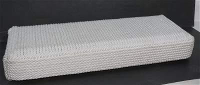 Decorator Thick White Nylon Rope Low Bench Seat.