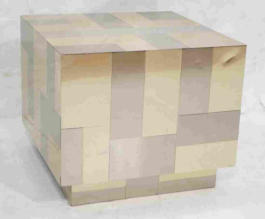 Paul Evans Attributed Occasional Cube Table.  Unm