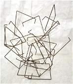 "JOSEPH SELTZER Brutalist Welded Sculpture. ""Kinet"