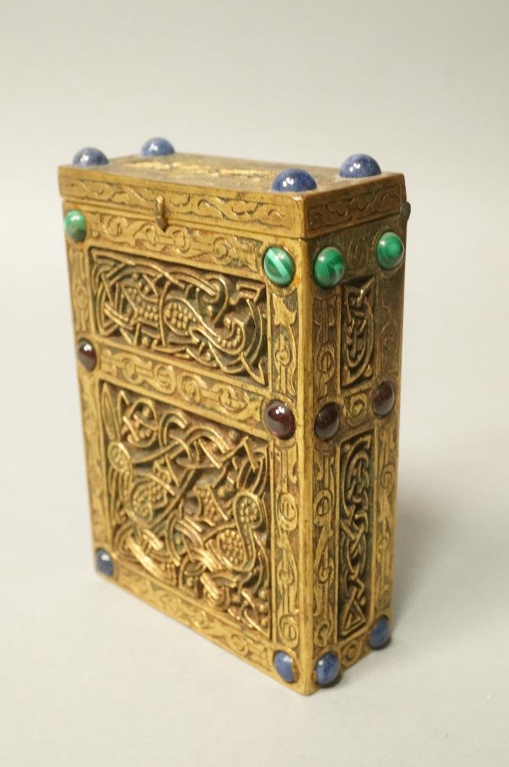 TIFFANY STUDIOS #1244 Jeweled Bronze Card Case Ci