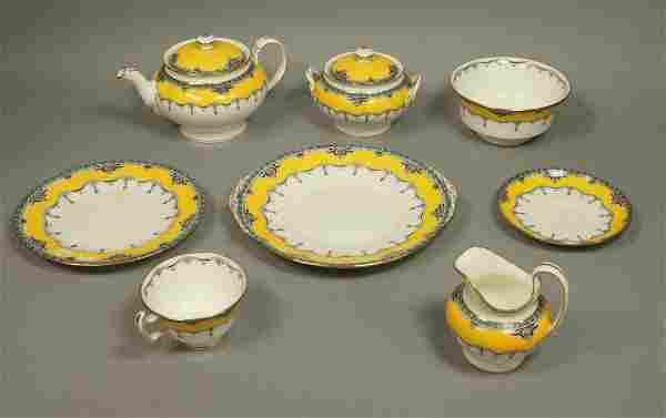 31pc MINTONS England Dinnerware Dish Set. Yellow