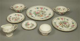 "36pc AYNSLEY ""Pembroke"" Dinnerware Dish Set. Flor"