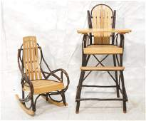 2pcs Woven Willow Childs Chairs OTLEE L TROYER