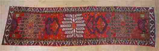 27 x 97 Handmade Oriental Carpet Rug Runner  G
