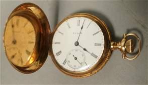 14K ELGIN Gold Ladies Pocket Watch Fancy case wi