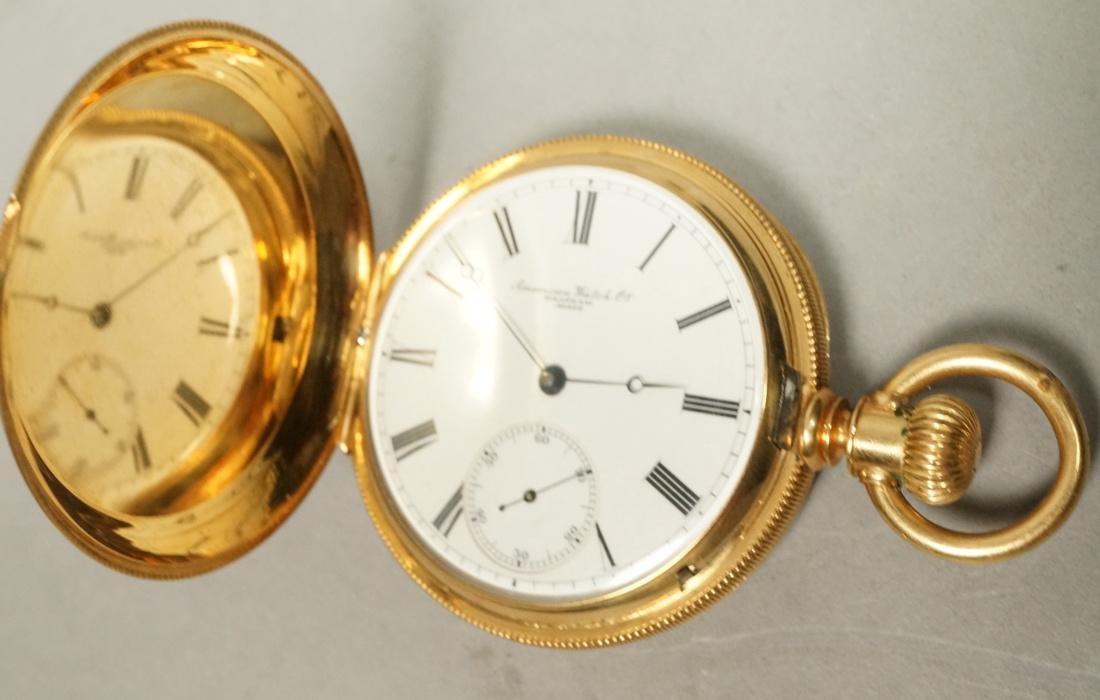 18K Gold AMERICAN WATCH Co Pocket Watch. Case wit