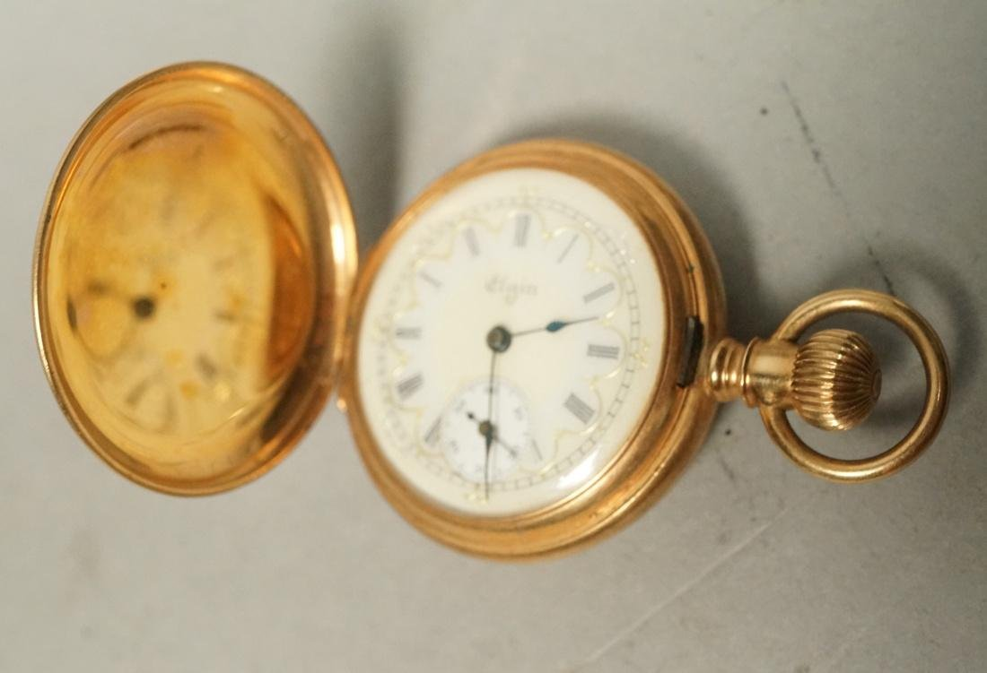 Ladies ELGIN 14K Gold Pocket Watch.  Case has Cra