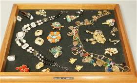 18pcs Signed Costume Jewelry. Miriam Haskell Col