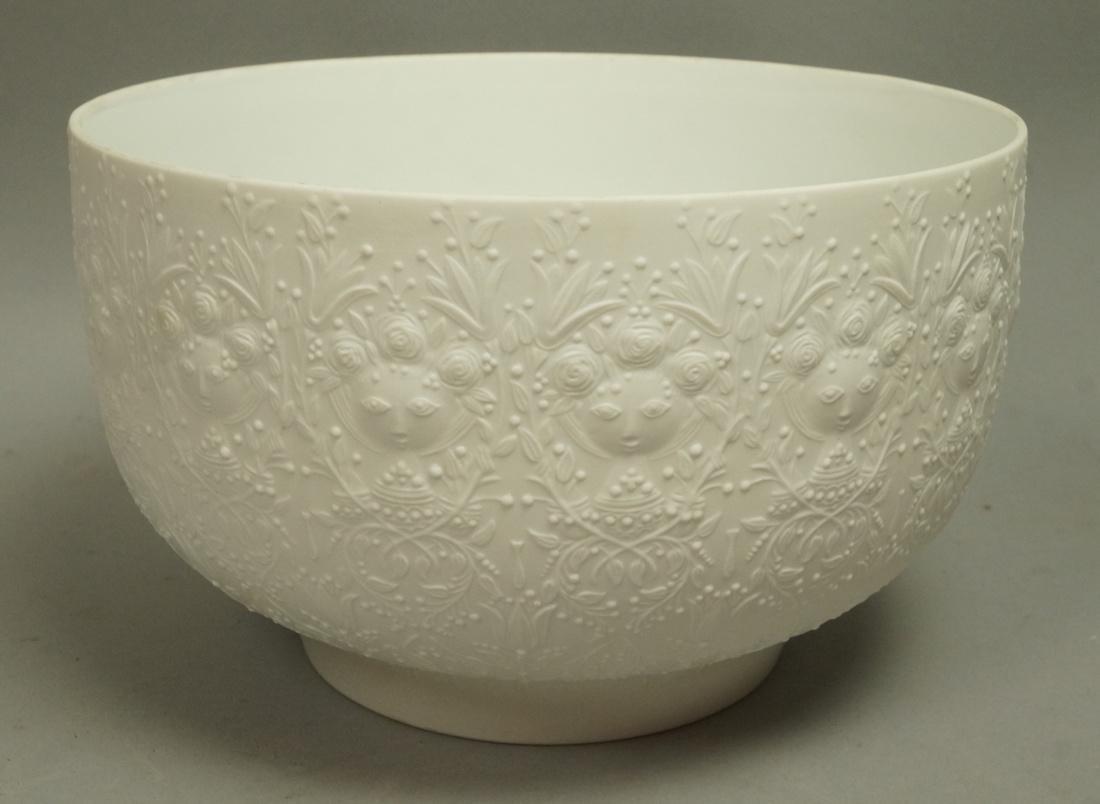 BJORN WIINBLAD for ROSENTHAL Porcelain Bowl. Whit