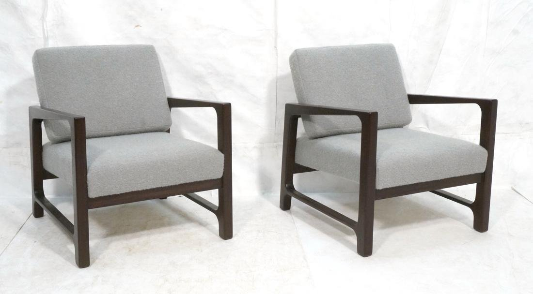 Pr HARVEY PROBBER Arm Lounge Chairs. Open arm fra